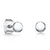 Sterling Silver Plain Round Stud Earrings