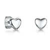 Sterling Silver Plain Heart Stud EarringsEarrings - JOOLS By Jenny Brown