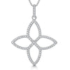 Sterling Silver Four Petal Pointed Open Flower Pendant Set With Cubic Zirconia Stonespendants - JOOLS By Jenny Brown