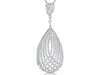 Sterling Silver Delicate Stranded Woven Pendant With Pave Set Cubic Zirconia Stonespendants - JOOLS By Jenny Brown
