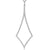 Sterling Silver Diamond Shape Open Pendant Set With Cubic Zirconia Stones