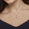 Sterling Silver Large Plain Teardrop NecklaceNecklaces - JOOLS By Jenny Brown