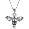Sterling Silver Bumble Bee Necklace Set with Cubic Zirconia and  Black Enamel StripesNecklaces - JOOLS By Jenny Brown