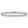 STERLING SILVER AND CUBIC ZIRCONIA 3.75  CARAT LINE BRACELETBracelets - JOOLS By Jenny Brown