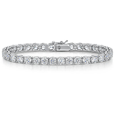 Sterling Silver and Cubic Zirconia 6.50 Carat Tennis BraceletBracelets - JOOLS By Jenny Brown