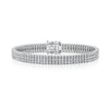 STERLING SILVER AND CUBIC ZIRCONIA  3.50 CARAT TRIPLE ROW LINE BRACELETBracelets - JOOLS By Jenny Brown