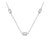STERLING SILVER NECKLACE- SET WITH BRILLIANT ROUND AND PRINCESS CUT CUBIC ZIRCONIA STONES- PLATINUM FINISHED
