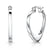 Sterling Silver  Solid Heart Hoop Earrings With A Snap Bar Back
