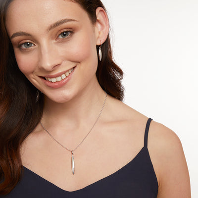Sterling Silver  Pod Drop Necklace On an 18-20 Inch Drop Chainnecklaces - JOOLS By Jenny Brown