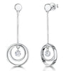 Sterling Silver Circle  Drop EarringsEarrings - JOOLS By Jenny Brown