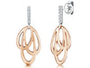 Sterling Silver Rose Gold Celtic Style Drop EarringsEarrings - JOOLS By Jenny Brown