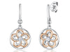 Sterling Silver and Rose Gold Flower EarringsEarrings - JOOLS By Jenny Brown