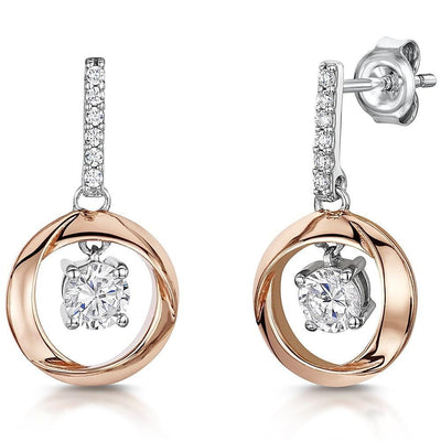 Sterling Silver  Rose Gold Drop EarringsEarrings - JOOLS By Jenny Brown