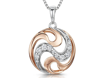 Sterling Silver & Rose Gold Circle PendantPendants - JOOLS By Jenny Brown