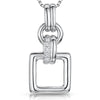 Sterling Silver Open Square Necklacependants - JOOLS By Jenny Brown