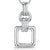 Sterling Silver Open Square Necklace