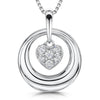 Sterling-Silver-Pendant-with-A-Cubic-Zirconia-Suspended-Heart-Centre