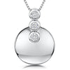 Sterling-Silver-Disc-Pendant-Sent-With-Three-Cubic-Zirconia-Stones