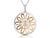 Sterling Silver and Rose Gold Sunflower Circle Pendant