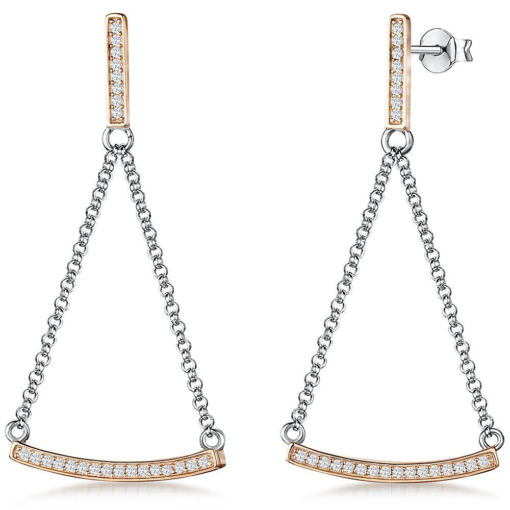 sterling-silver-and-rose-gold-trapezium-shape-drop-earrings