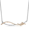 sterling-silver-and-rose-gold-twisted-cross-over-necklace