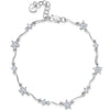 Sterling Silver Bracelet - Cut Cubic Zirconias - And A Four Petal Flower SetBracelets - JOOLS By Jenny Brown