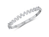 Sterling Silver Raindance Bracelet Set With Alternating Cubic Zirconia StonesBracelets - JOOLS By Jenny Brown