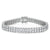 Sterling Silver Double Row  Tennis Bracelet
