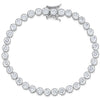 Sterling Silver Bracelet With Round Zirconia With a Beaded EdgeBracelets - JOOLS By Jenny Brown