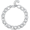 Sterling Silver Twisted Link Bracelet With Alternate Cubic Zirconia Set LinksBracelets - JOOLS By Jenny Brown