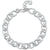 Sterling Silver Twisted Link Bracelet With Alternate Cubic Zirconia Set Links
