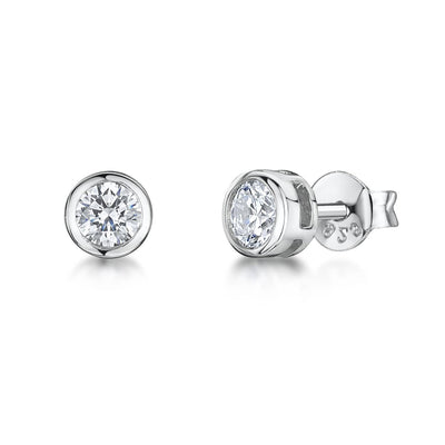 Sterling Silver Stud Cubic Zirconia EarringsEarrings - JOOLS By Jenny Brown
