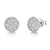 Sterling Silver Round Pave Set Stud Earring Set With With Cubic Zirconia StonesEarrings - JOOLS By Jenny Brown