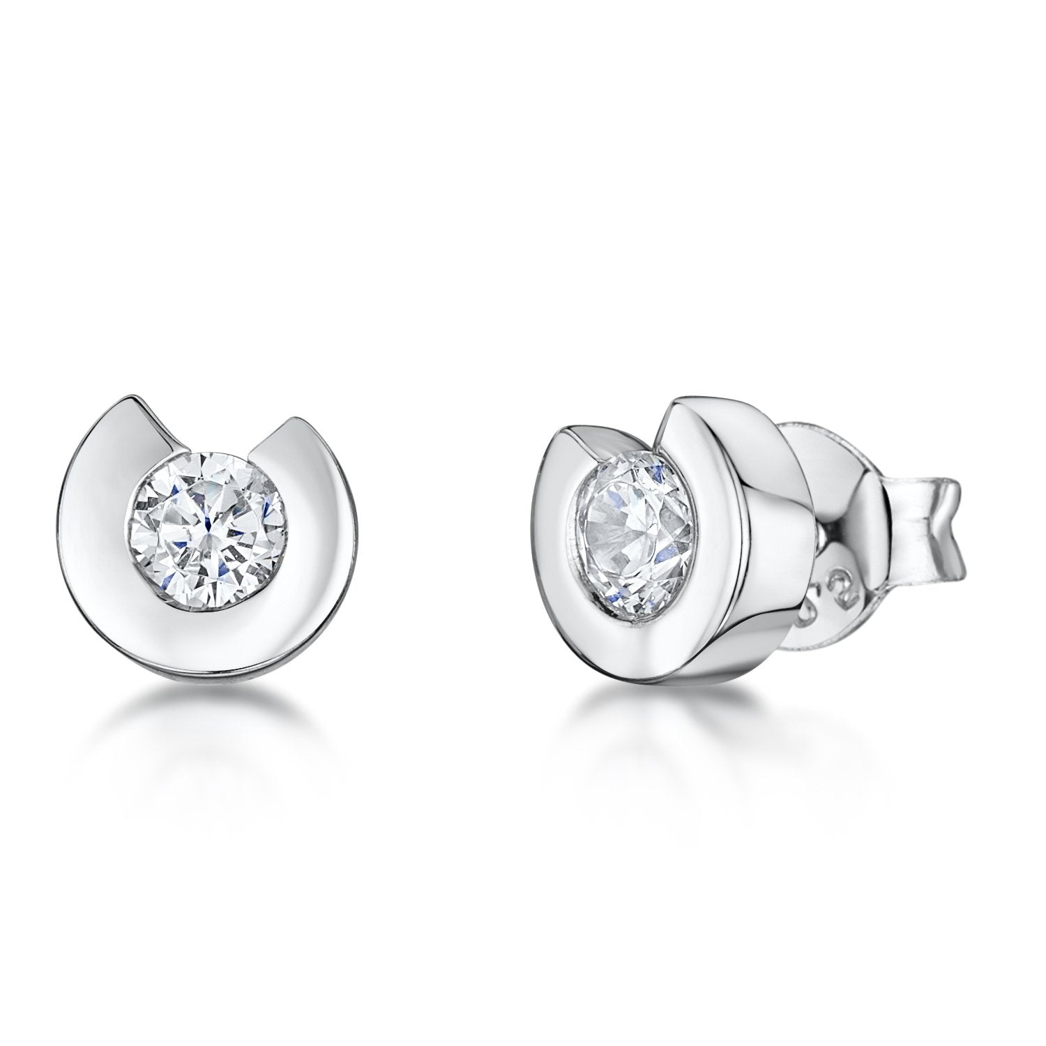 Sterling Silver  Horseshoe Stud Earrings - JOOLS By Jenny Brown