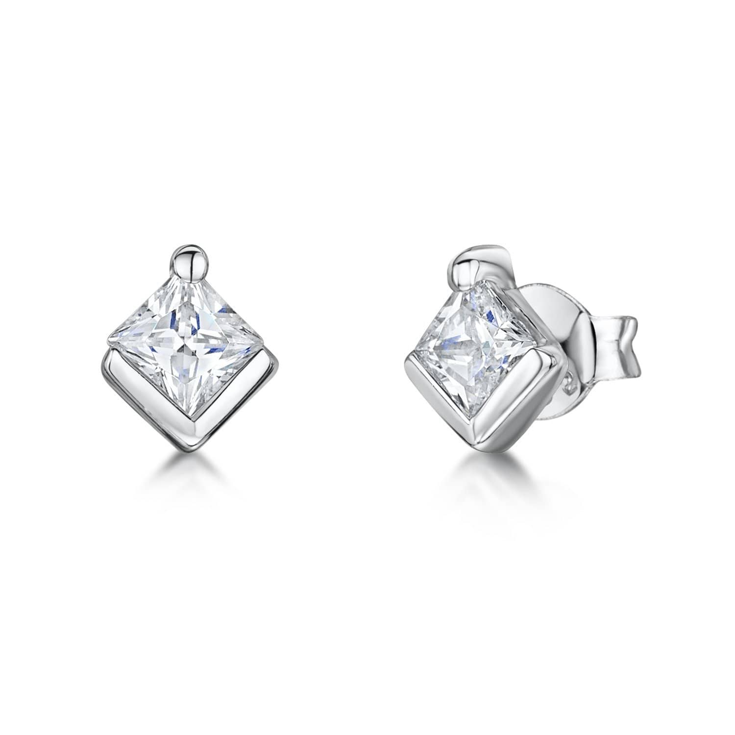 Sterling Silver Square Stud EarringsEarrings - JOOLS By Jenny Brown