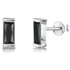 Sterling Silver Rectangular Black Stud EarringsEarrings - JOOLS By Jenny Brown