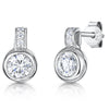 Sterling Silver Earrings Set With A Cubic Zirconia Rub Over StonesEarrings - JOOLS By Jenny Brown