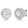 Sterling Silver Halo Cubic Zirconia  Stud EarringsEarrings - JOOLS By Jenny Brown