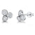 Sterling Silver Stud Earrings Raindance Boodles Style - Set With Zirconia Stones