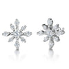 Sterling Silver Spiky Snowflake Earrings With Cubic Zirconia StonesEarrings - JOOLS By Jenny Brown