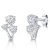 Sterling Earrings  Cubic Zirconia Earrings Set With  Three Stonesearrings - JOOLS By Jenny Brown