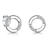Sterling-Silver-Small-Open-Circle-Earrings-With-Open-Facing-White-Cubic-Zirconia-Features
