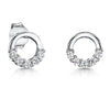 Sterling-Silver-Polished-Circle-Earrings-Set-with-A-Lower-Section-Of-White-Zirconia-Stones