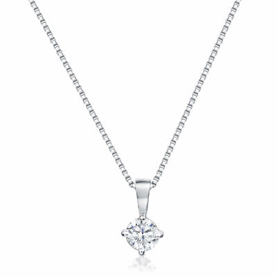 Sterling Silver Solitaire Half Carat  PendantPendants - JOOLS By Jenny Brown