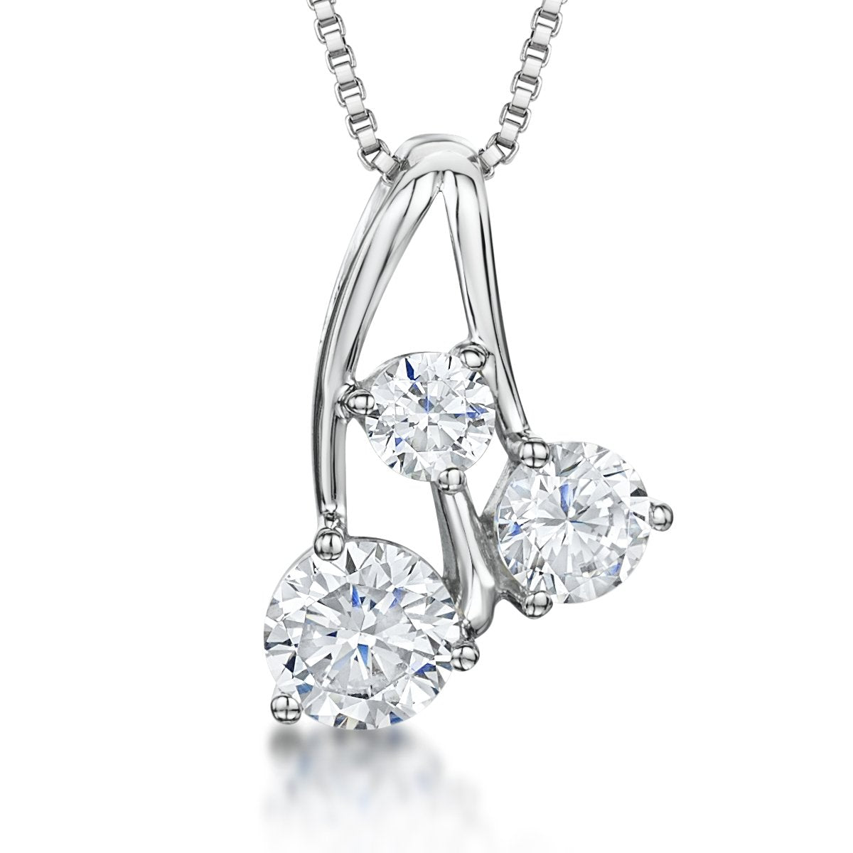 Sterling Silver Cherry Pendant Set With Three Cubic Zirconia Stonespendants - JOOLS By Jenny Brown