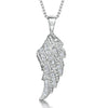 Sterling Silver Angel Wing Pendant Set With Cubic Zirconia StonesPendants - JOOLS By Jenny Brown
