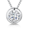 Sterling Silver 1 Carat Solitaire Rub Over  Pendant- JOOLS By Jenny Brown