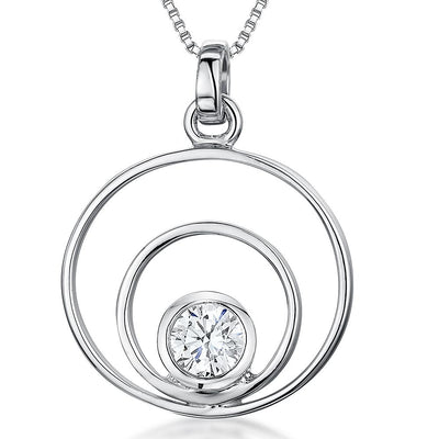 Sterling-Silver-Pendant-With-Two-Circles-aand-A-1-Carat-Cubic-Zirconia-Stone-Set-Centre