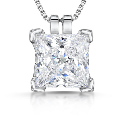 Sterling Silver Pendant with5.62 Carat White Cubic ZirconiaPendants - JOOLS By Jenny Brown