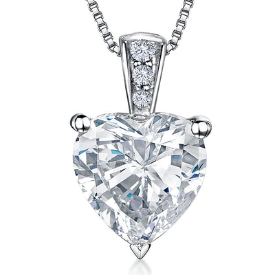Sterling Silver Cubic Zirconia Heart PendantPendants - JOOLS By Jenny Brown